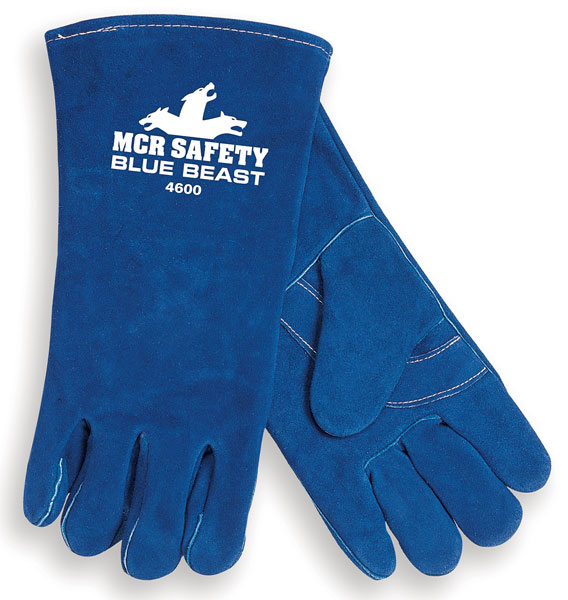 4600 - Blue Beast®, blue side leather, reinforced palm, wing thumb