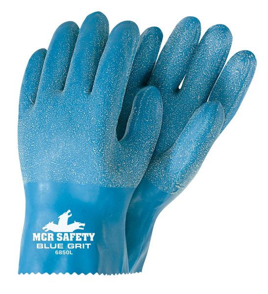 6850 - Blue Grit®, 10 Inch Rubber Coated with Textured Grip, Interlock Lining