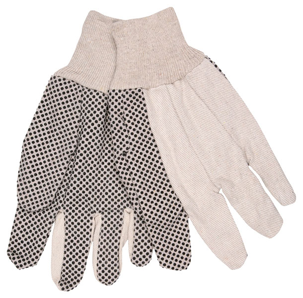 8808 - Dotted Cotton Canvas, 8 oz. Regular Weight, Black PVC Dots and Knit Wrist