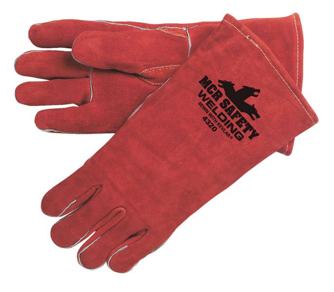 4320 - Premium select shoulder leather, russet, reinforced thumb, DuPont™ Kevlar® sewn
